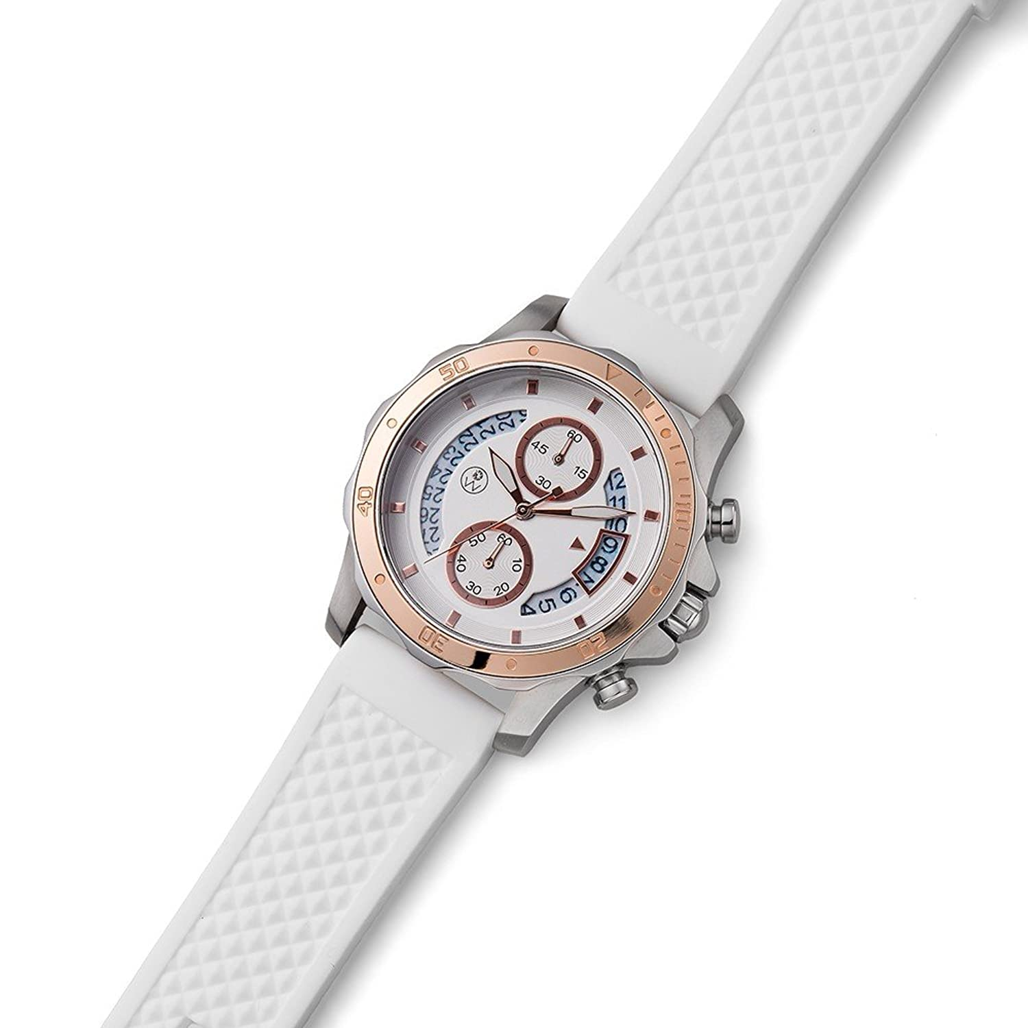 Oliver Weber Uhr Munich white with Crystals from Swarovski Damen
