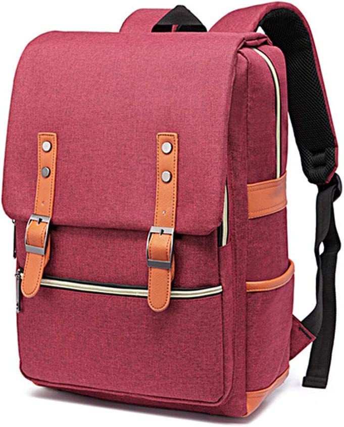 Office Color : Red HANXIAODONG College School Bookbag for Men Laptop Backpack for 15 Inch Laptop with Waterproof Nylon for Men and Women Casual Laptop Bag for Students or Travel