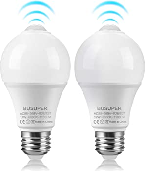 2-Pack Busuper 12-watt Motion Sensor LED Light Bulb