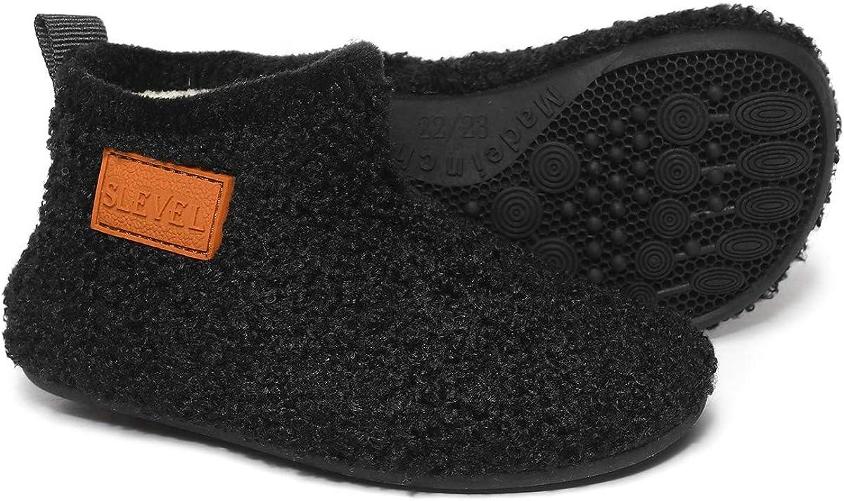 SLEVEL Toddler Boys Girls House Socks Slippers Little Kids Lightweight Indoor Home Shoes