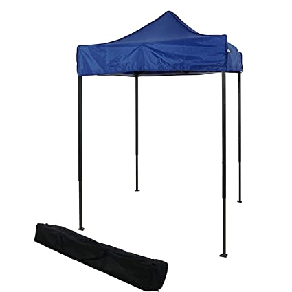 reputable site d021c a4d98 OTLIVE 5'x5' Easy Up Canopy Commercial Event Adjustable Portable Tent  w/Carry Bag(Blue)