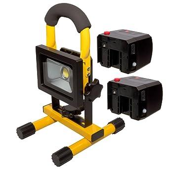 Neu LED Wechsel-Akku Strahler Set 10W Handlampe Arbeitsleuchte  JL25