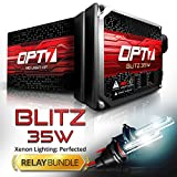 Blitz 35w HID Kit - All Bulb Sizes and Colors - Relay Capacitor Bundle - 2 Yr Warranty - H11 (H8, H9) (5000K Bright White Xenon Light)