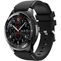 Samsung Gear S3 Frontier Watchband 22mm, FreeDeal Solid Silicone Wristband Wrist Strap Watches Replacement