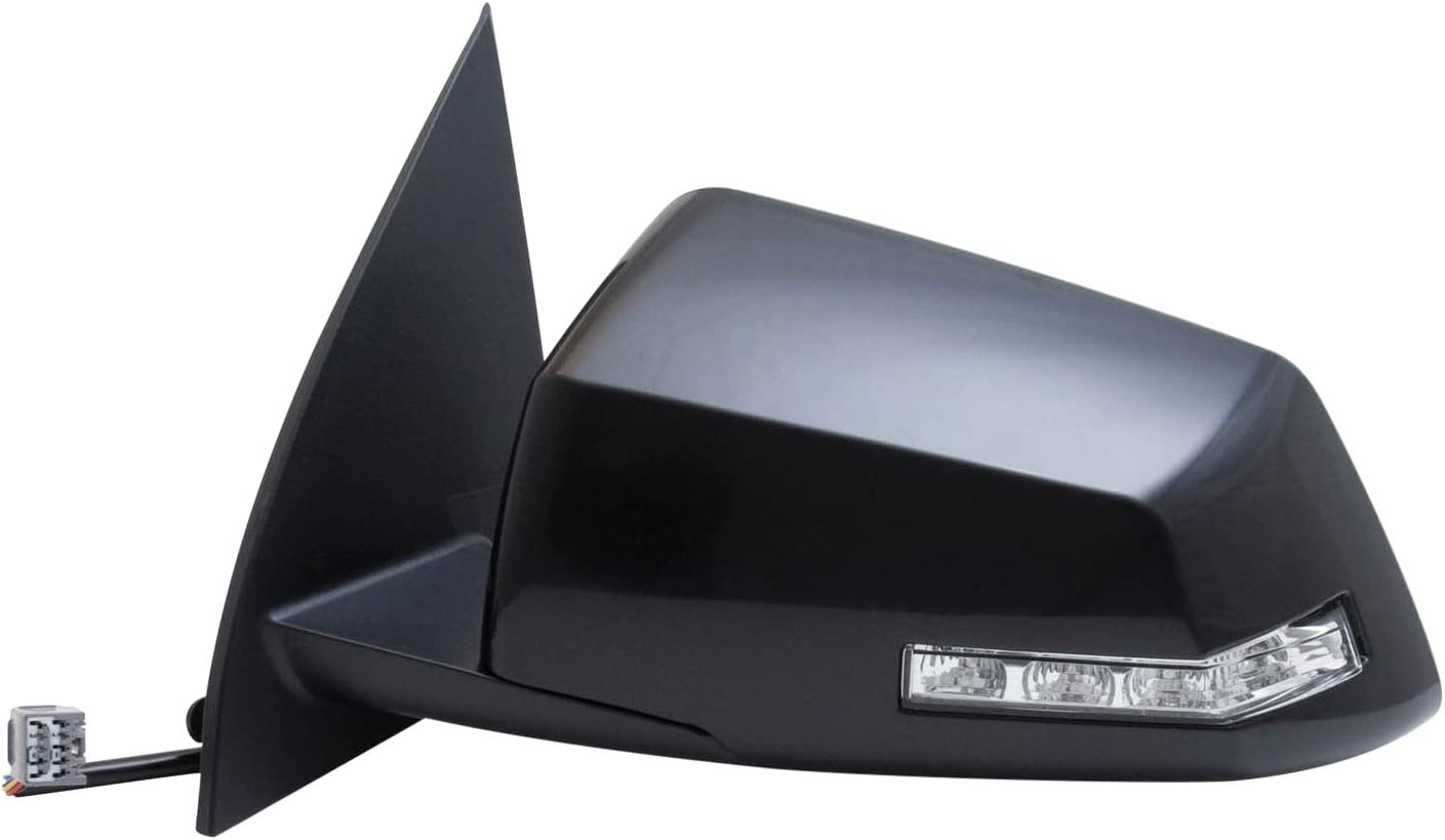 Fit System 62128G GMC//Saturn Driver Side OE Style Heated Power Replacement Mirror with Turn Signal