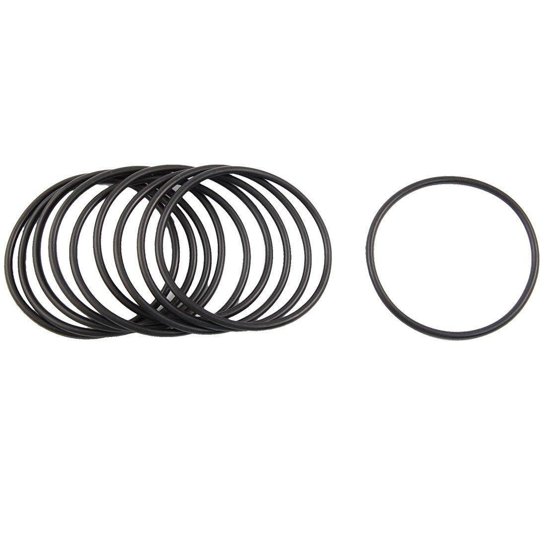 10/St/ück schwarz Nitrilkautschuk O Ring /Ösen Seal 68/mm x 75/mm x 3,5/mm