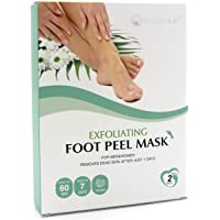 Foot Peel Mask 2 Pack, Peeling Away Calluses and Dead Skin cells, Make Your Feet Baby Soft, Exfoliating Foot Mask, Repair Rough Heels, Get Silky Soft Feet