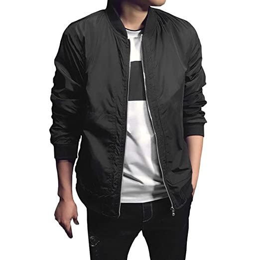 Chen Mens Bomber Casual Softshell Sports Wear Lightweight Slim Fit Jacket Coat