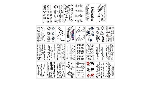 Gwolf Tatuaje temporal, tatuajes temporales de 30 hojas, pegatinas ...