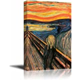"Wall26 The Scream by Edvard Munch Giclee Canvas Prints Wrapped Gallery Wall Art | Stretched and Framed Ready to Hang - 18"" x 12"""