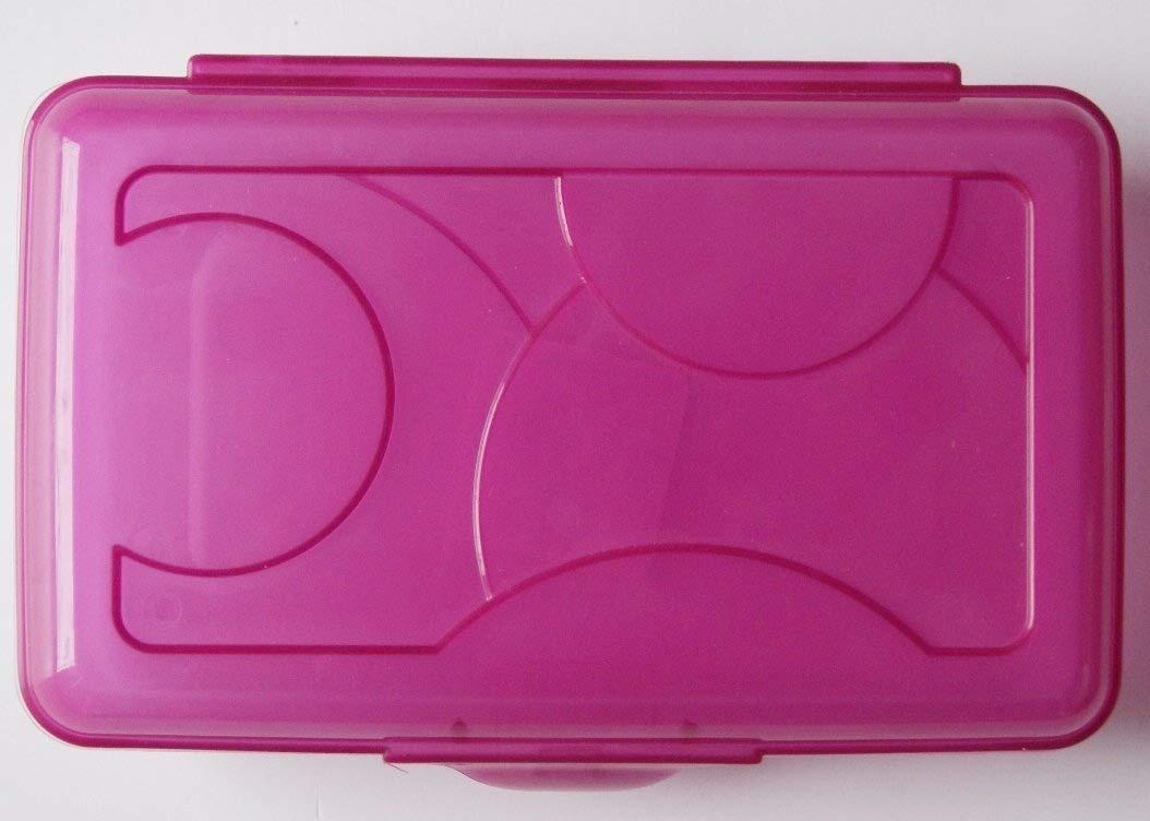 Sterilite Pink Transparent Pencil Case Box