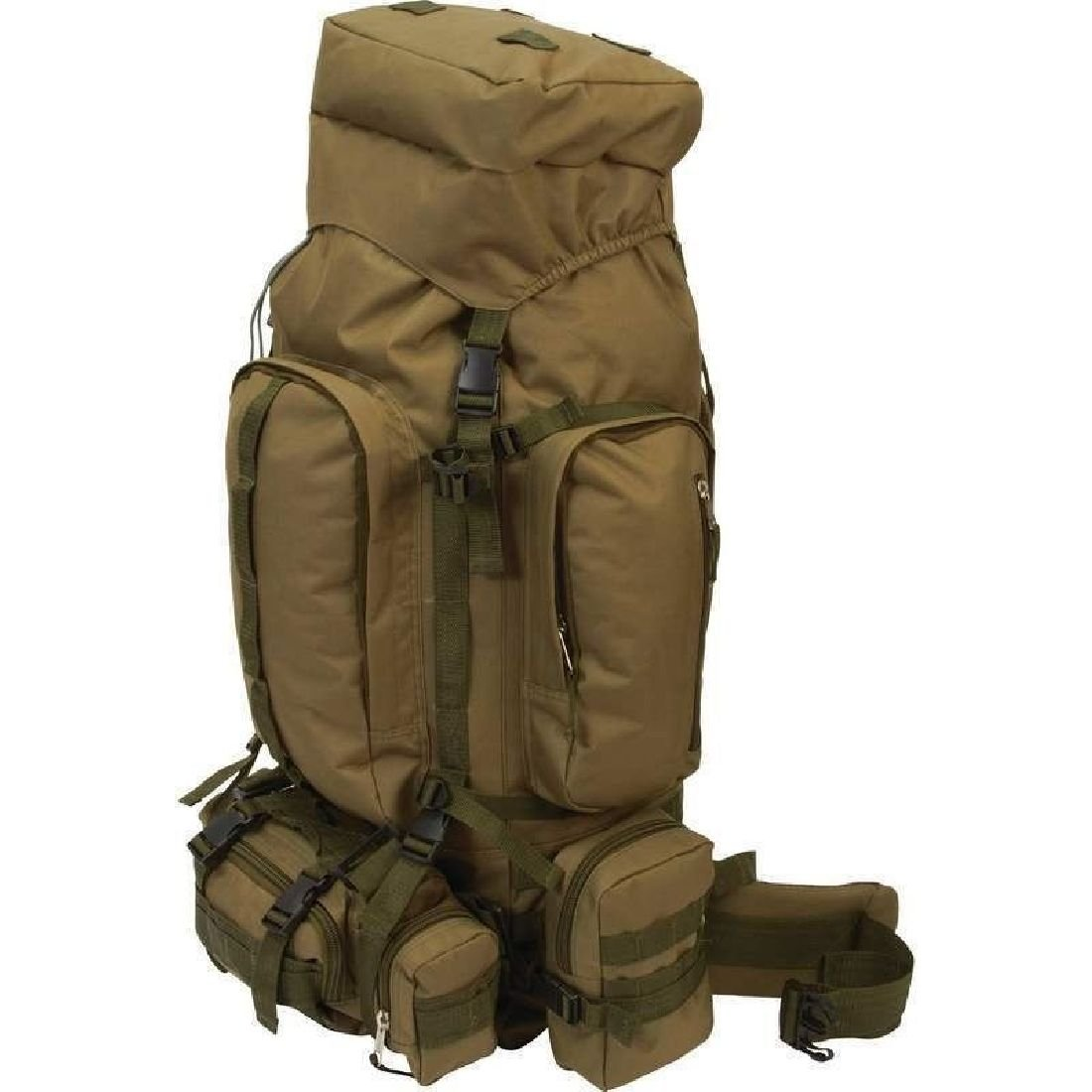 Big 35'' Olive Green Backpack Day Pack Hiking Mountaineer Camping Mountain Bag