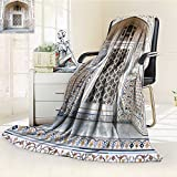 Decorative Throw Blanket Ultra-Plush Comfort oriental window Soft, Colorful, Oversized | Home, Couch, Outdoor, Travel Use(60''x 50'')