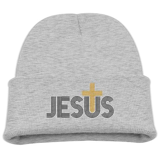 c9a565303cfe1 Jesus Christian Cross Custom Newest Kid Winter Warm Beanie Knit Hat  Boy Girl Skull Cap at Amazon Men s Clothing store