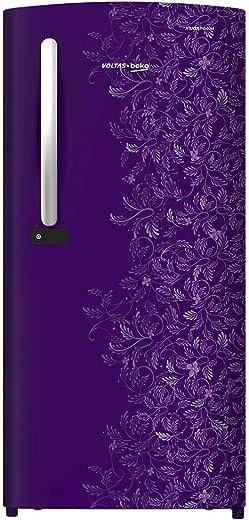 Voltas Beko 185L 2 Star Direct-Cool Single Door Refrigerator (RDC205DKPEX,Kasia Purple) 2020