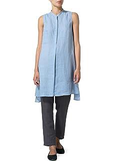 ec93bd0e49 Vivid Linen Long Vest Dress at Amazon Women s Clothing store