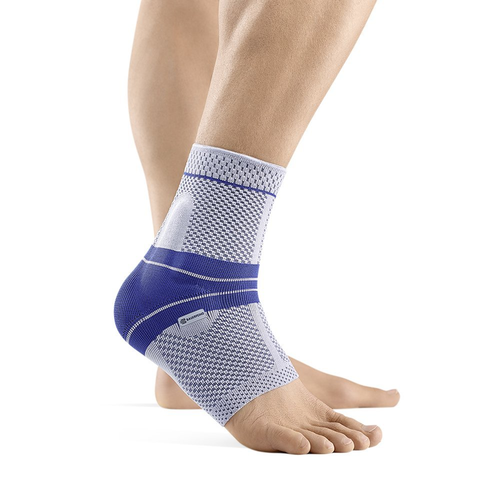 Bauerfeind - MalleoTrain - Ankle Support Brace - Helps Stabilize The Ankle Muscles and Joints for Injury Healing and Pain Relief - Right Foot - Size 1 - Color Titanium