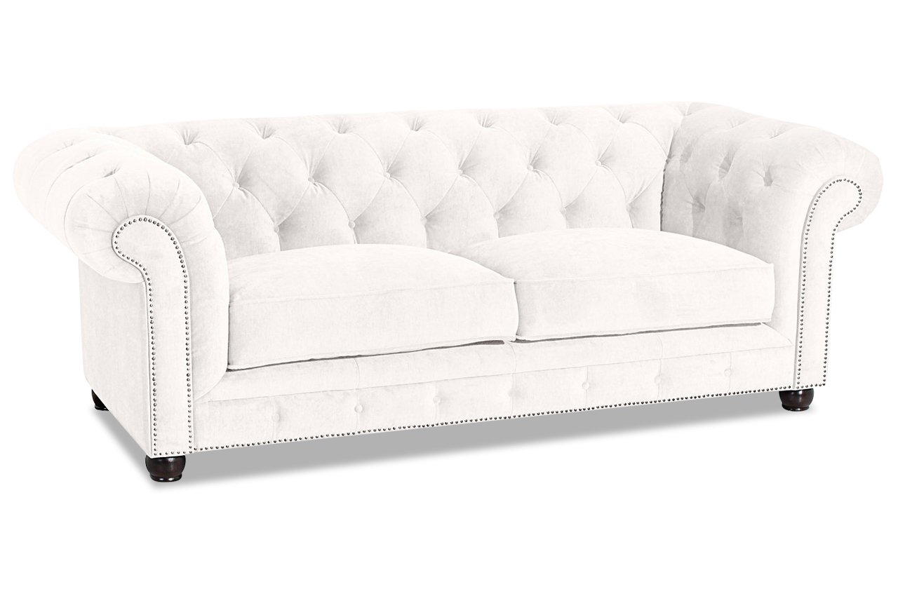 Sofa Max Winzer Chesterfield 2er Sofa Old England - Luxus-Microfaser ...