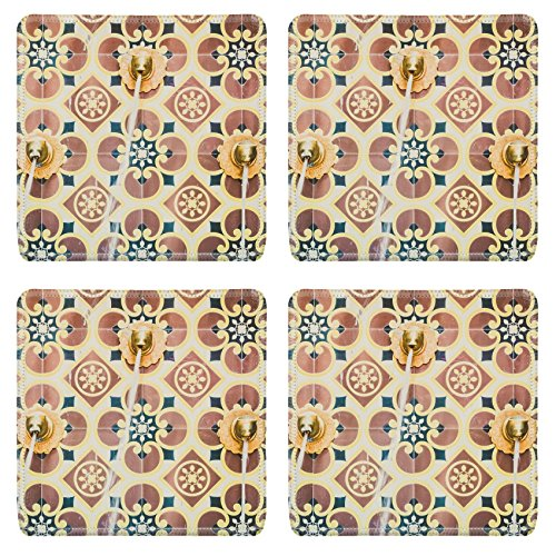 Luxlady Square Coaster Fountain morocco style vintage filter IMAGE 38265182 Customized Art Home Kitchen