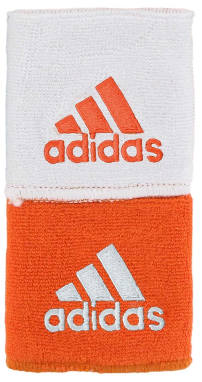 adidas Unisex Interval Reversible Wristband, Team Orange/White, ONE SIZE by adidas