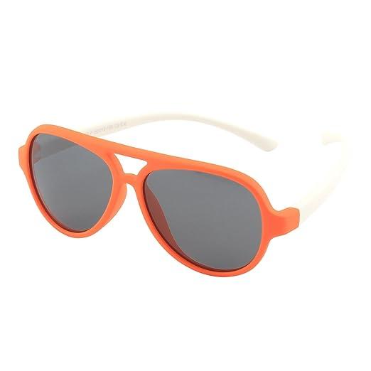 f5054be800 CGID Occhiali da Sole per Bambini Gommati Flessibili Aviator Lenti  Polarizzate per Bimbi e Bambini 3-6 Anni,K93