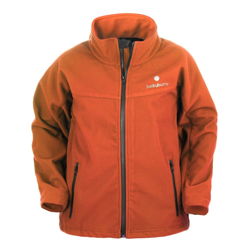 Lucky Bums Kid's Soft Shell Jacket, Burnt Orange, Medium 215GRXS