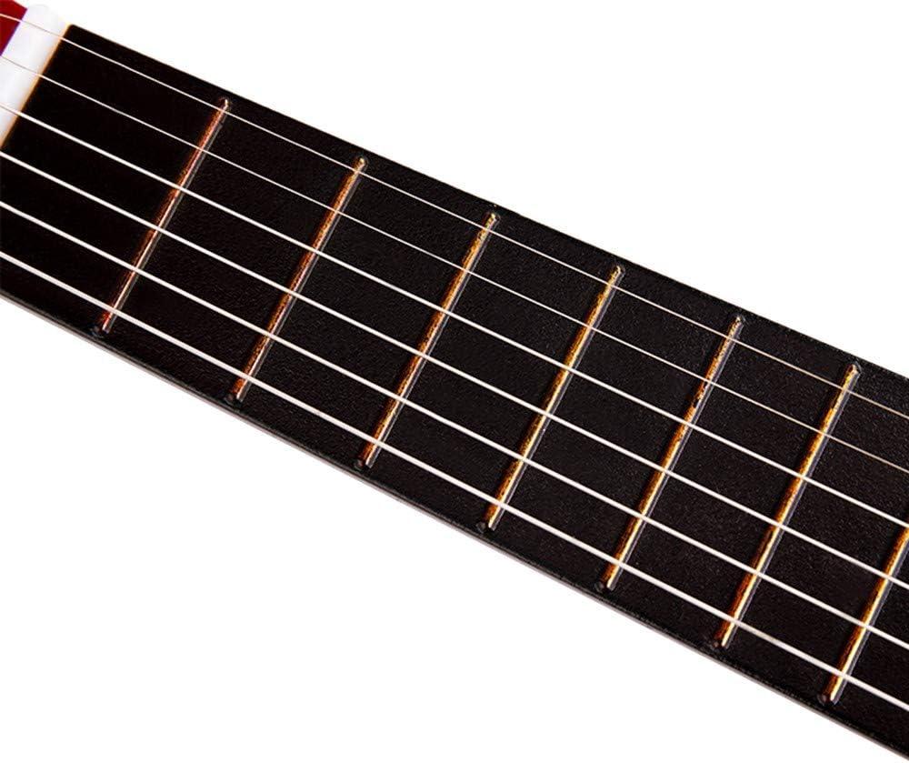 NIMEDI Ukelele Alta Calidad Banda Sonora Guitarra Ukulele 21 Pulgadas De Madera 6 Cuerdas Para Niños Instrumentos Musicales Estilo Popular Principiante Accesorios De Guitarra: Amazon.es: Instrumentos musicales