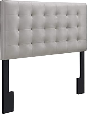 Pulaski  Square Tufted Upholstered Headboard, Full/Queen, Taupe