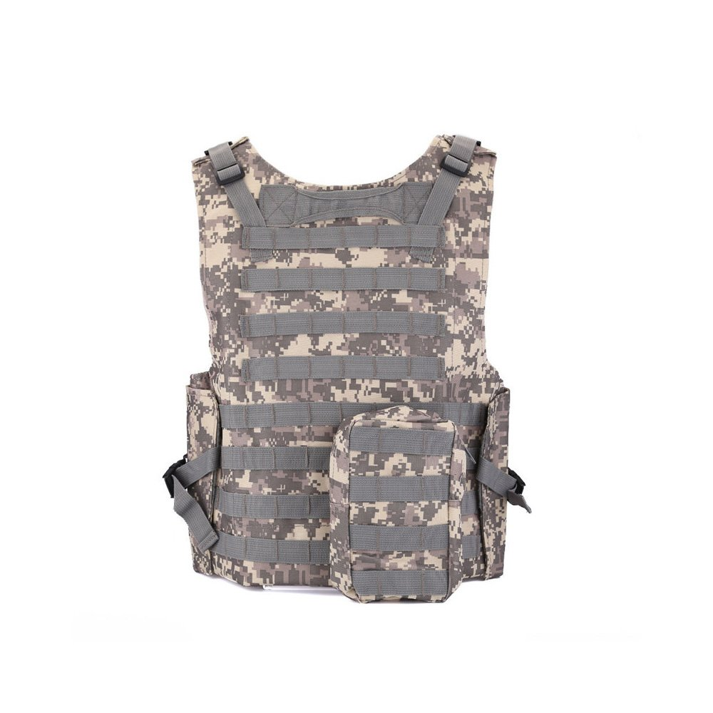 Airsoft Suncentech Tactical Vest Adjustable Combat MOLLE Vest for Hunting Paintball CS