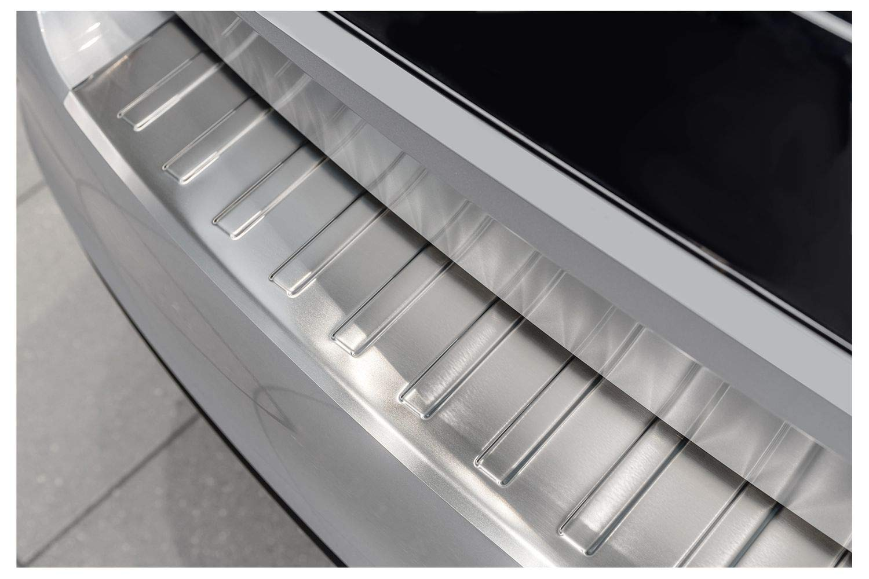 teileplus24 L637 Ladekantenschutz aus V2A Edelstahl mit Abkantung Farbe:Silber geb/ürstet
