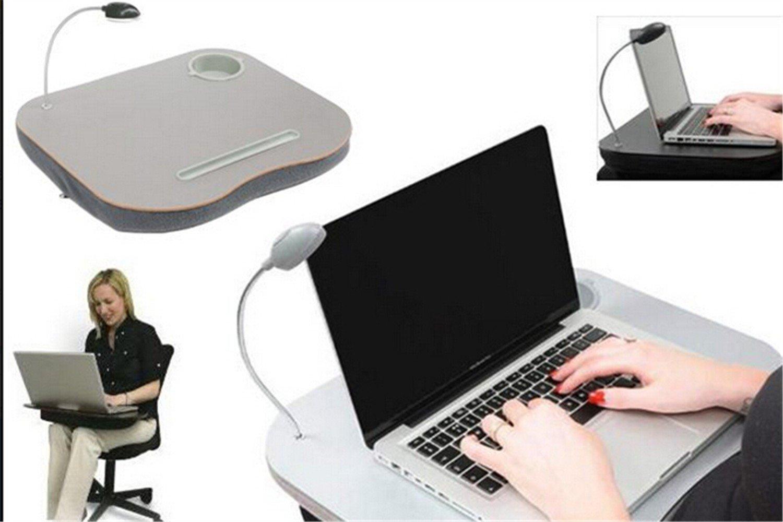 Générique Cojín de Escritorio portátil con luz LED y portavasos portátil: Amazon.es: Hogar