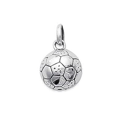 Colgante Balón de fútbol en plata 925 - Neuf: Amazon.es: Joyería