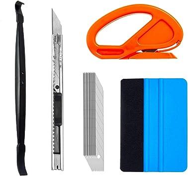 Vinyl Magnet Art Knife CARTINTS Car Film Vinyl Installation Tools Window Film Application Kit Window Tint Tool Kit Wallpaper Smoothing Tool with Felt Squeegee Razor Scraper Vinyl Gloves