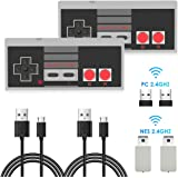 2 Pack NES Wireless Controller, AGPTEK NES Classic Controller Wireless for Nintendo Classic Mini Edition and PC,No-Wired Game