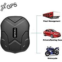 TKMARS TK905 Traqueur de GPS de véhicules avec aimant,Suivi pour les voitures et moto Sans fil IP66 étanche Localisateur GPS en temps réel Pas de frais mensuels Temps de veille extra-long