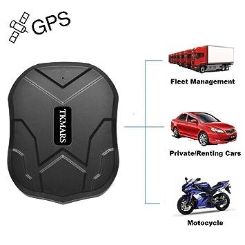 GPS Tracker TKMARS, localizador GPS con imán Potente 3 meses reserva tiempo real GPS / GPRS / GSM Tracker Antirrobo para vehículos Autos Motocicleta