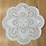 PEPPERLONELY 12 Inch White French Lace Paper Doilies 50 Count