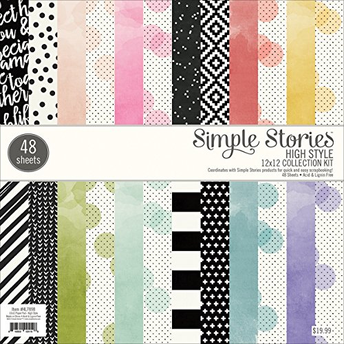 Simple Stories Paper Pad 12x12 High Style by Simple