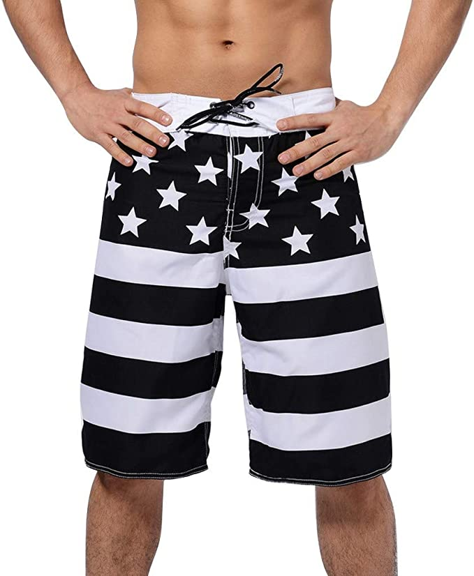 Beach Shorts for Man Fit Quick Dry Fitness and Leisure Mode Dress Prints Pants Pockets Swim Trunks