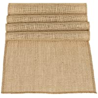 Ling's moment 12 x 108 Inches Jute Farmhouse Table Runner Burlap Table Decor Bamboo for Winter Rustic Wedding…
