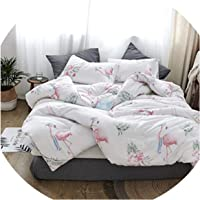 Flamingo Quilt Cotton Throws Blanket White Plaids Thick Bedding Filling Queen Full King Size