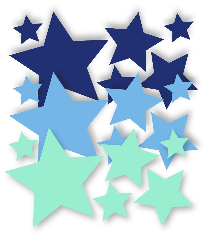 Kinderzimmer junge baby stern  XXL Wandtattoo mit Namen fürs Kinderzimmer in Blau - Geschenk zur ...