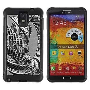 LASTONE PHONE CASE / Suave Silicona Caso Carcasa de Caucho Funda para Samsung Note 3 / intertwine mass