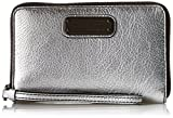 Marc by Marc Jacobs New Q Shine Wingman Wristlet, Silver, One Size