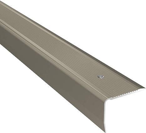 Borde de nariz de aluminio para escalera, perfil de 2,40 m TMW: Amazon.es: Bricolaje y herramientas