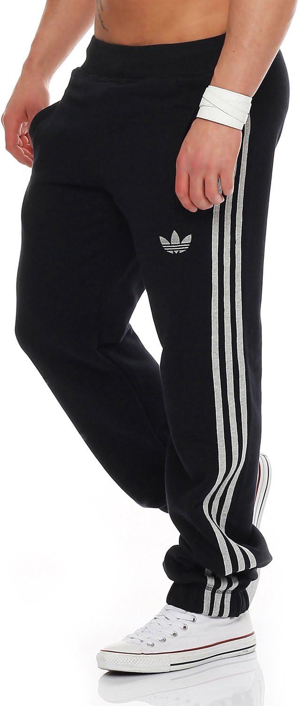 adidas SPO Fleece Trackpant hombres pantalones de chándal negro ...