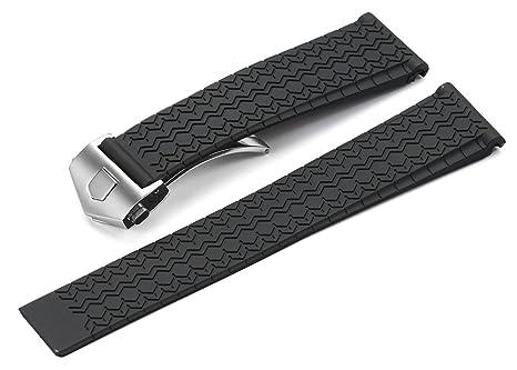 bracelet montre caoutchouc tag heuer bijoux la mode. Black Bedroom Furniture Sets. Home Design Ideas