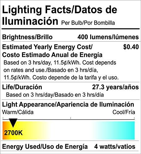 Goodlite G-83473 ST21 Clear Led Light Bulb, 4W=40W Equivalent 400 Lumens Super White 5000K E26 Base Dimmable - - Amazon.com