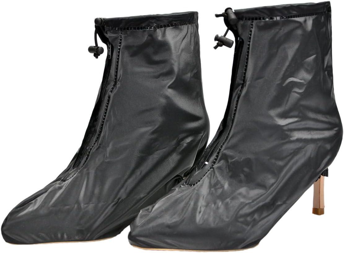 Surchaussures Pluie Botte de Pluie Couvre-chaussures Antid/érapant semelles /épaisse pour les femmes /à talons hauts