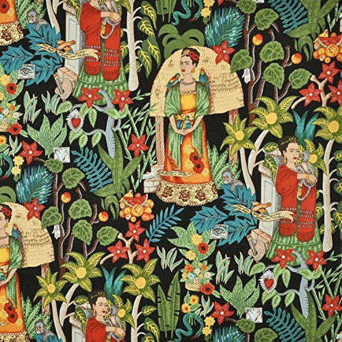 Alexander Henry Fridas Garden Black Fabric - By the Yard